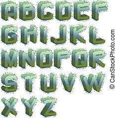 3d mildew alphabet