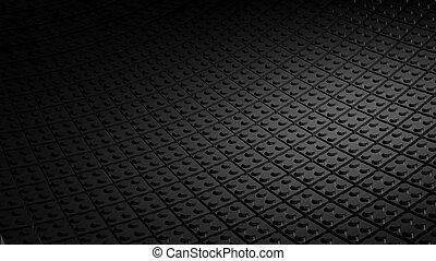 3D minimal black background made of lego blocks