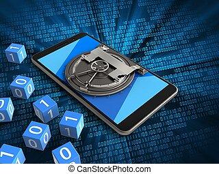 3d, mobiele telefoon