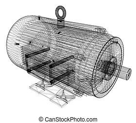 3d-model, 電気のモーター