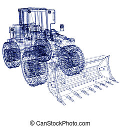 3d model bulldozer