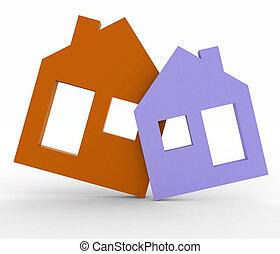 3d model house symbol set