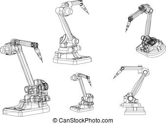 3d model of a welding robot