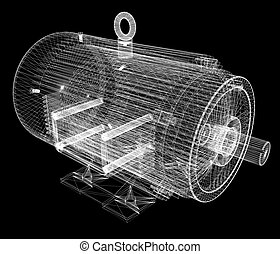 3d-model of an electric motor