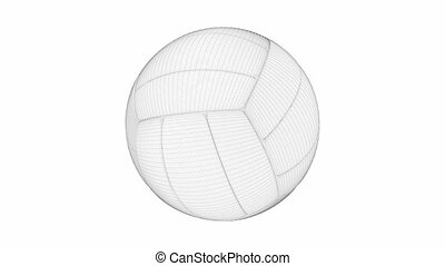3D model of volleyball ball on white background