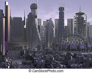 3d Model Sci-fi city