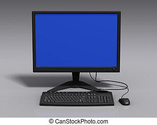 3d, modello, di, monitor