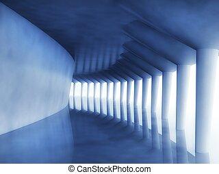 3d modern architecture corridor