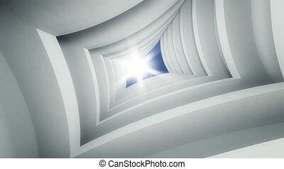 3d modern architecture interior