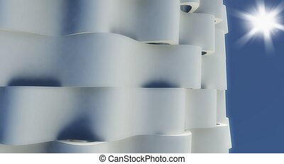 3d modern architecture wall