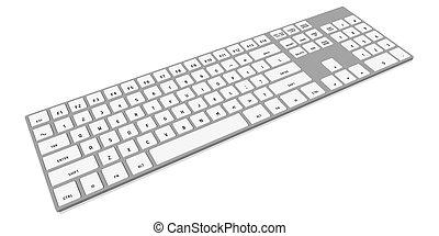 3D modern computer keyboard