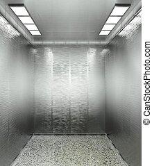 3d modern elevator interior
