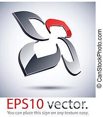 3D modern flower logo icon. - Vector illustration of 3D...