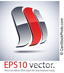 3D modern logo sail icon. - Vector illustration of 3D...