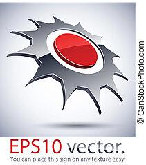 3D modern logo sun icon. - Vector illustration of 3D...