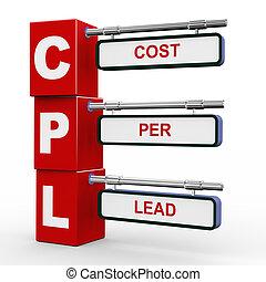 3d modern signboard of cpl