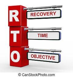 3d modern signboard of rto