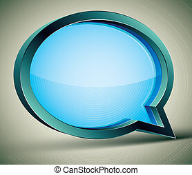 3d modern style speech bubble.