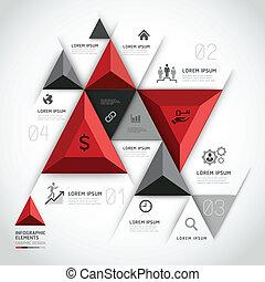 3d, moderne, business., infographics