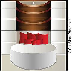 plafond lit luxueux suspendu chambre coucher rond illustration de stock rechercher des. Black Bedroom Furniture Sets. Home Design Ideas