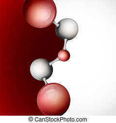3d Molecule Background.