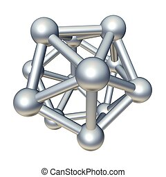 3d molecule model isolated on white.