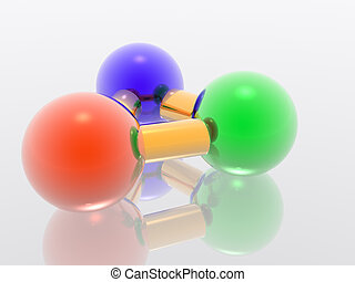 3D molecule - Render molecule