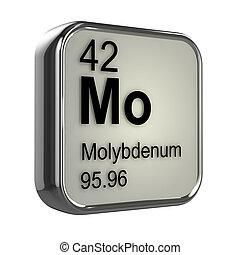 3d Molybdenum element - 3d render of molybdenum element...