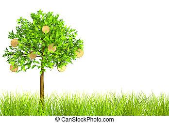 3d monetary tree - Monetary tree. Object over white