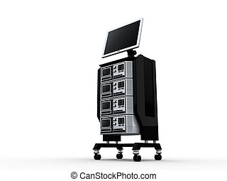 3d, monitor, servers