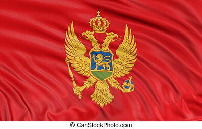 3D Montenegro flag