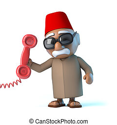 3d Moroccan answers the phone