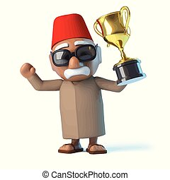 3d Moroccan wins the gold cup