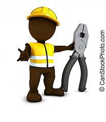 3D Morph Man Builder with pliers