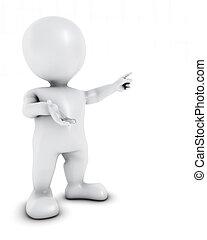 3D Morph Man Presenting - 3D Render of Morph Man Presenting
