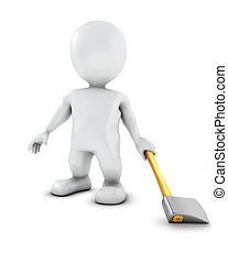 3D Morph Man swinging an axe - 3D Render of Morph Man...