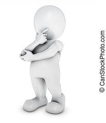 3D Morph Man thinking - 3D Render of Morph Man thinking