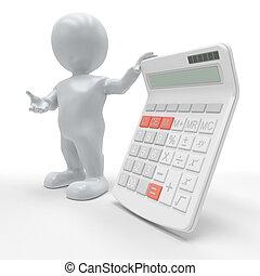 3D Morph Man with Calculator