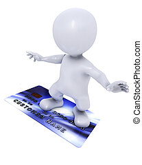 3D Morph Man with credit card