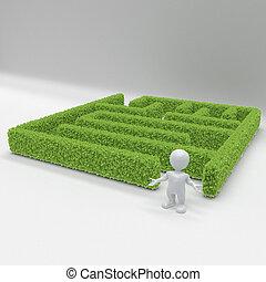 3D Morph Man with maze