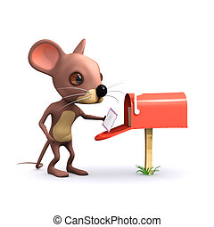 3d Mouse gets mail