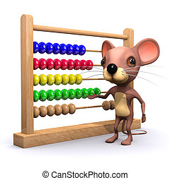 3d Mouse with abacus