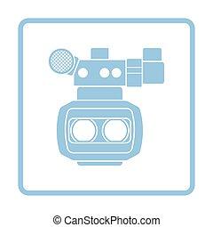 3d movie camera icon