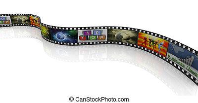3d movie reel - 3d render of movie reel