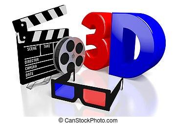 3D movies concept