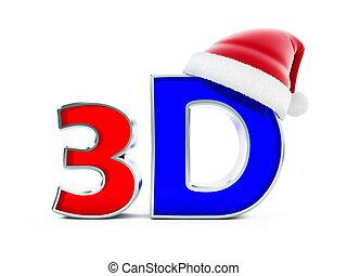 3d movies santa hat