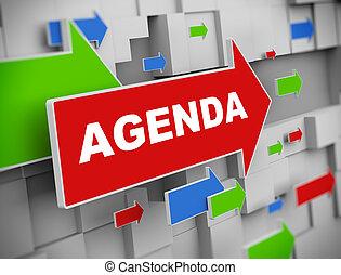 3d moving arrow - agenda