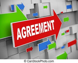 3d moving arrow - agreement