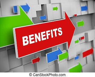 3d moving arrow - benefits