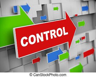 3d moving arrow - control